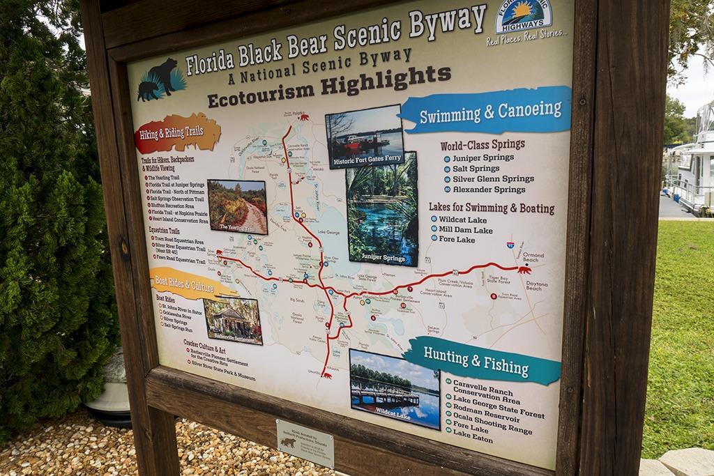 Blackwater Inn Byway Map Kiosk Panel