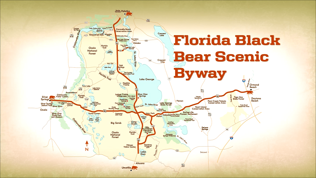Florida Black Bear National Scenic Byway Map